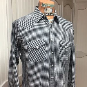 Holt Gingham Check Western Snap Vintage Shirt
